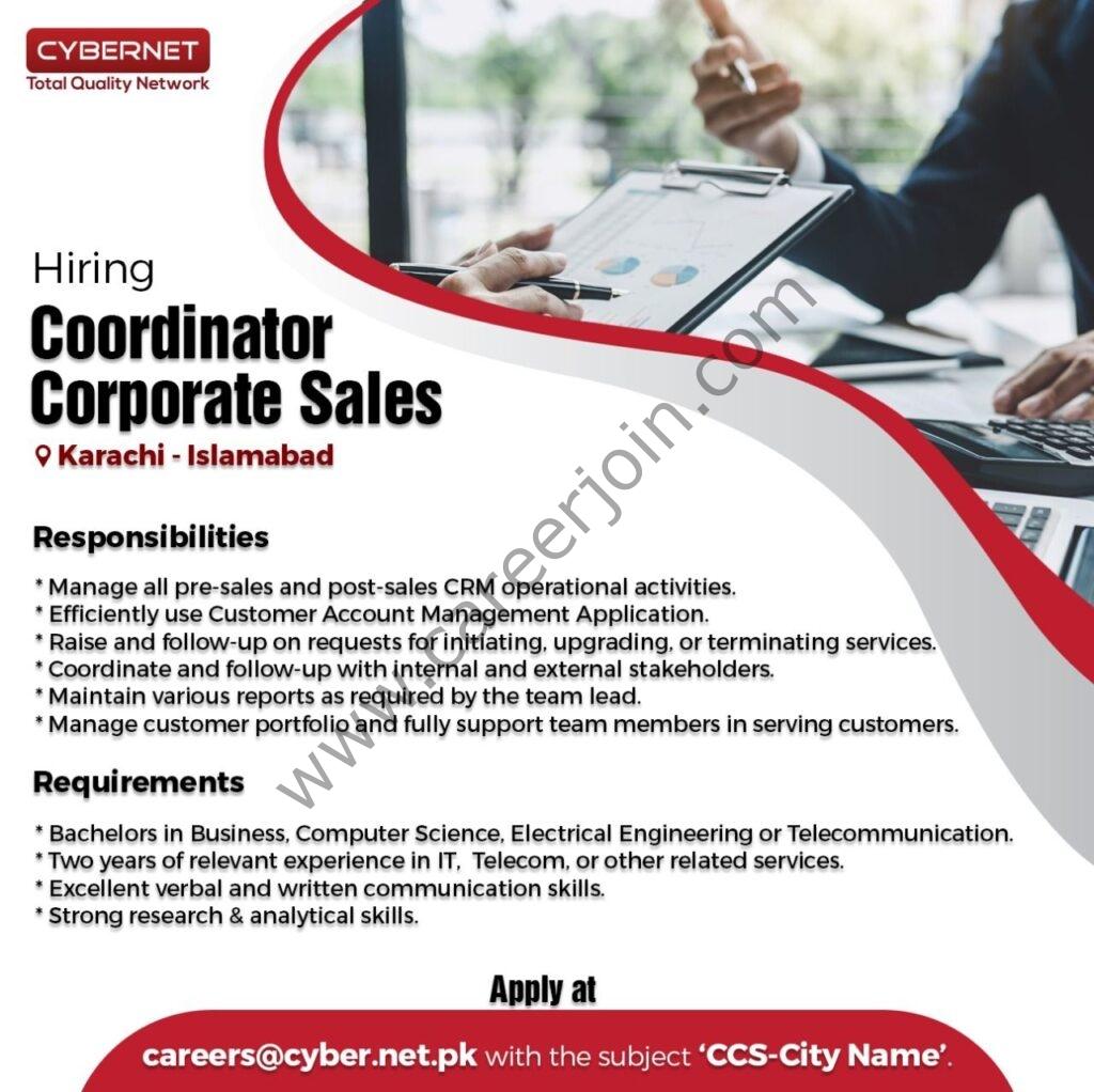 careers@cyber.net.pk - CyberNet Jobs 2021 in Pakistan