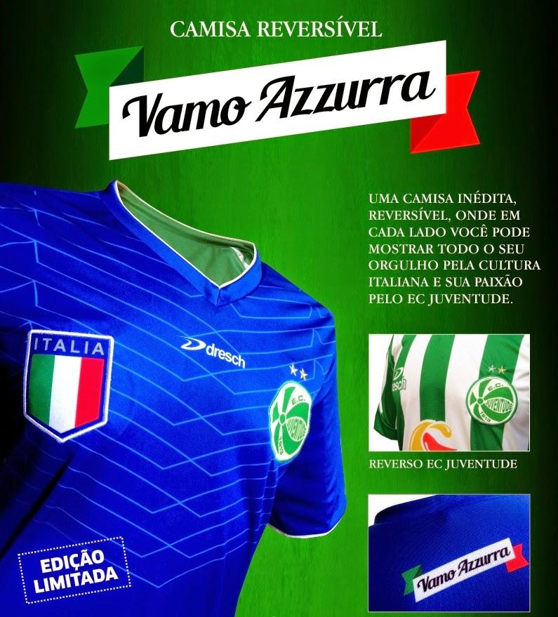 Dresch Sport homenageia Brasil e Itália em camisas reversíveis para ... 5564fd0d70d11
