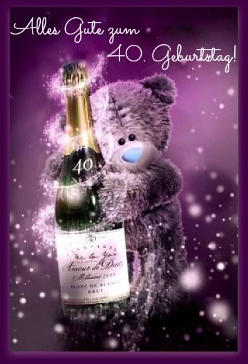 Teddybär Alles gute zum 40 Geburtstag