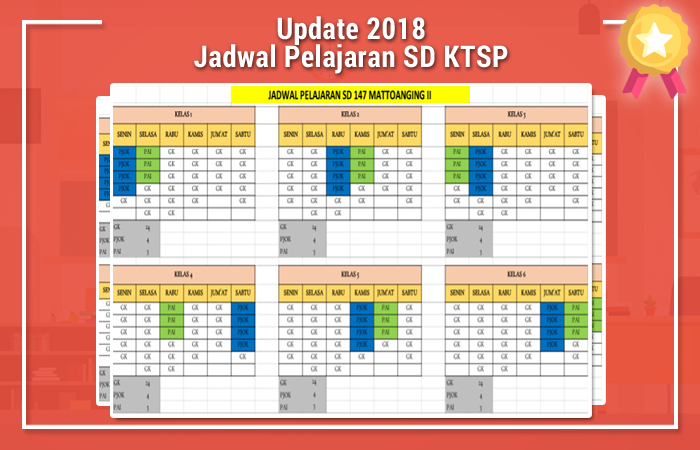 Jadwal Pelajaran SD KTSP