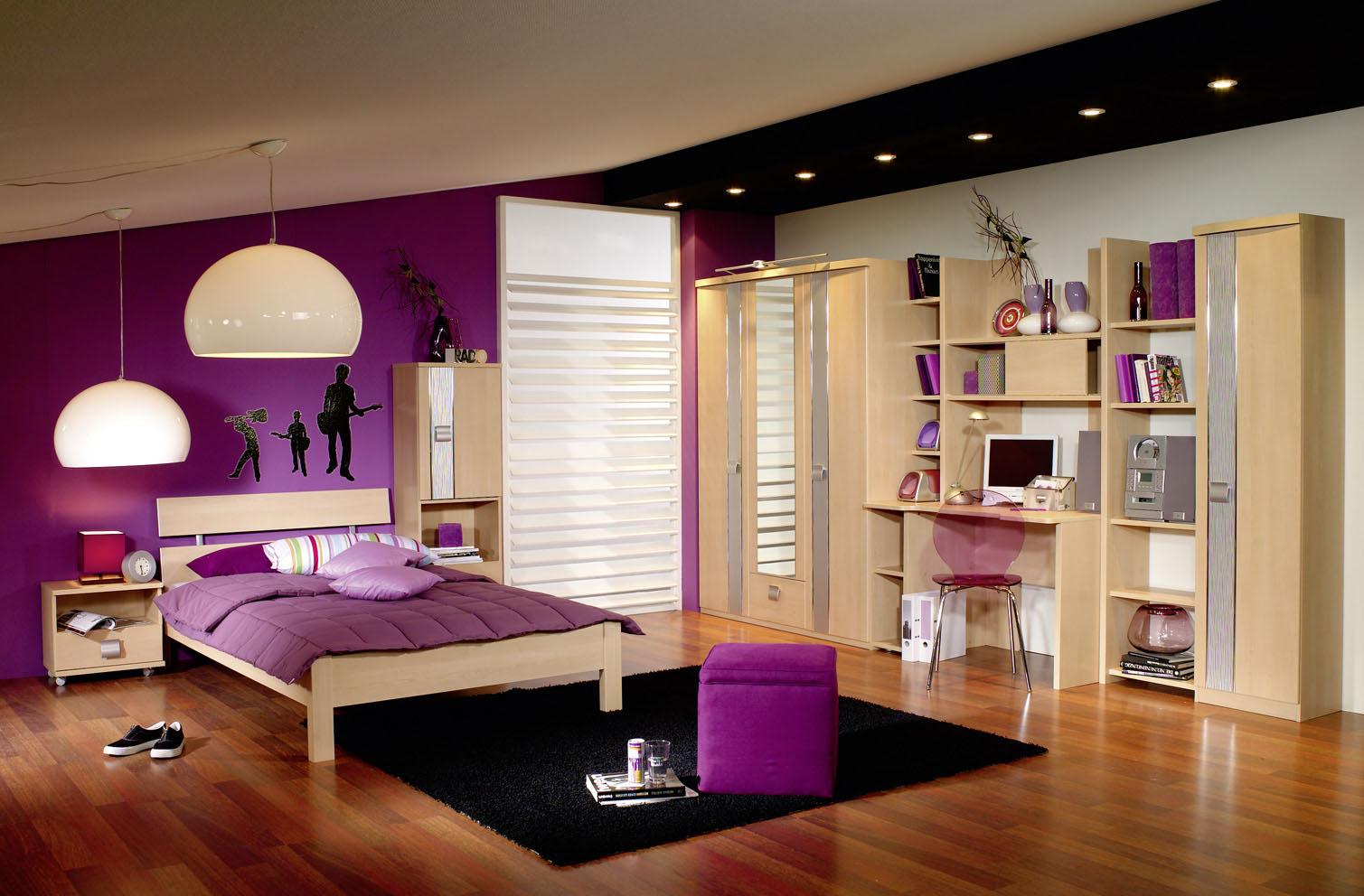 Dormitorio para adolescente color lila dormitorios con - Decoracion de paredes de dormitorios ...