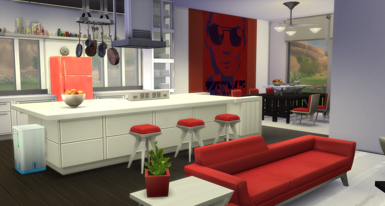 My Sims 4 Blog: Modern Open Concept Kitchen, Dining and Family ...