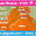 Rivers of India - Length, Origin, State, Tributary
