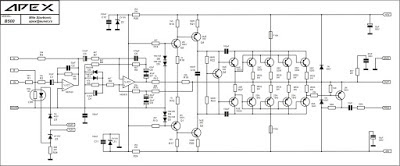 APEX  - 500W Power Amplifier B500 Circuit Diagram