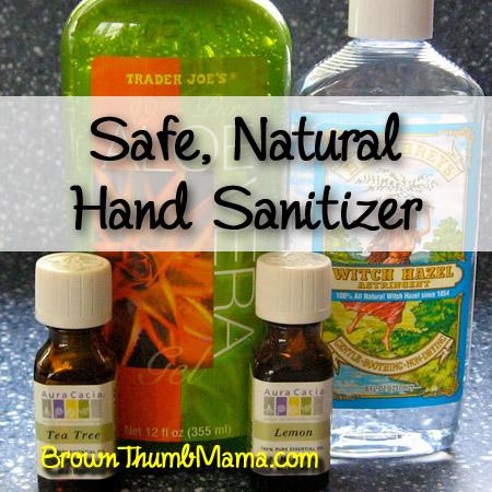 Safe Natural Hand Sanitizer Brown Thumb Mama