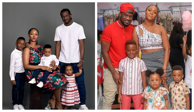 Papa's here - Anita Okoye shares lovely video of her children reuniting with their father, Paul Okoye after school in United States (Video)