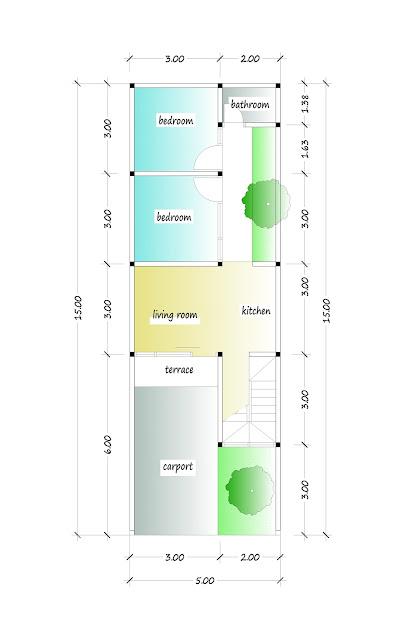 1st floor plan of beautiful house plan 06