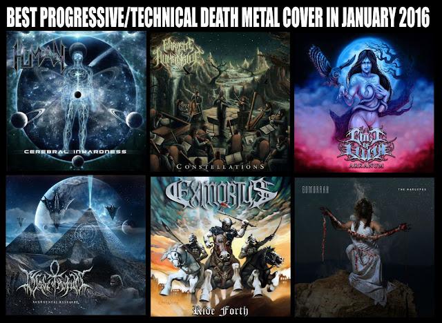 Best Progressive/Technical Death Metal Cover in January 2016, Best Progressive/Technical Death Metal Cover