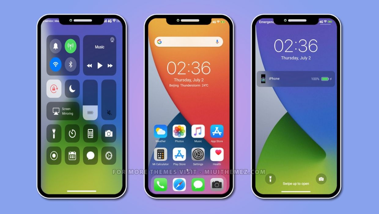 iOS 14.1 dual mode v12 MIUI 12 Theme