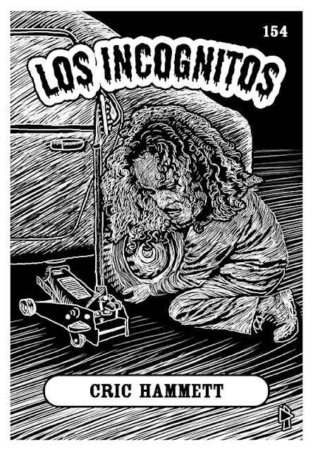 Los Incognitos Gwen Tomahawk Kirk Hammett Garage days revisited illustration Metallica