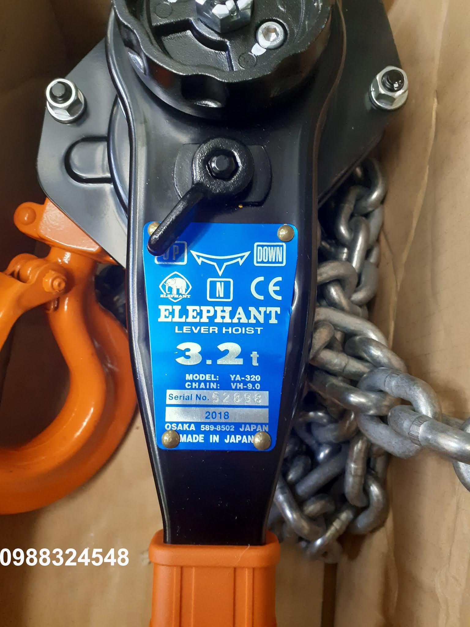 Pa lăng lắc tay Elephant YA-320 3.2 tấn