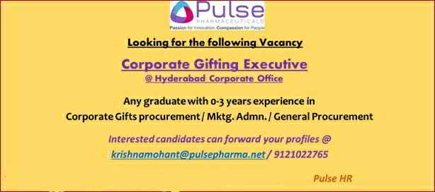 Pulse Pharmaceuticals walk-in interview for the Freshers and Experienced candidates @ Hyderabad