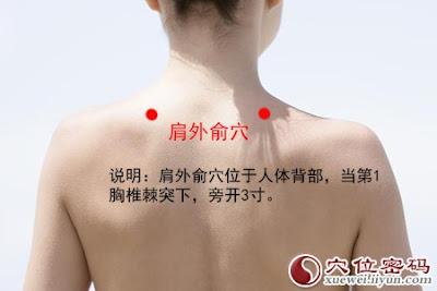 肩外俞穴位 | 肩外俞穴痛位置 - 穴道按摩經絡圖解 | Source:xueweitu.iiyun.com
