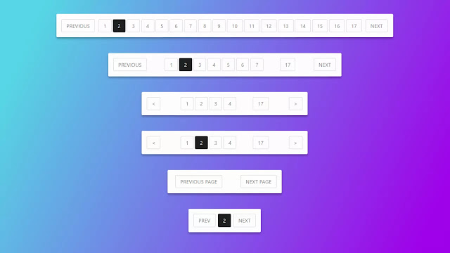 Pure CSS3 Responsive Pagination Design