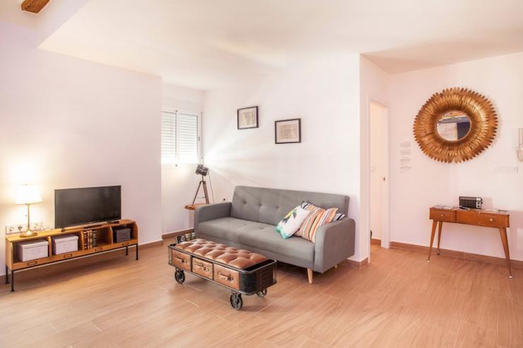Cómo decorar una casa para alquilar: Salón de estilo vintage