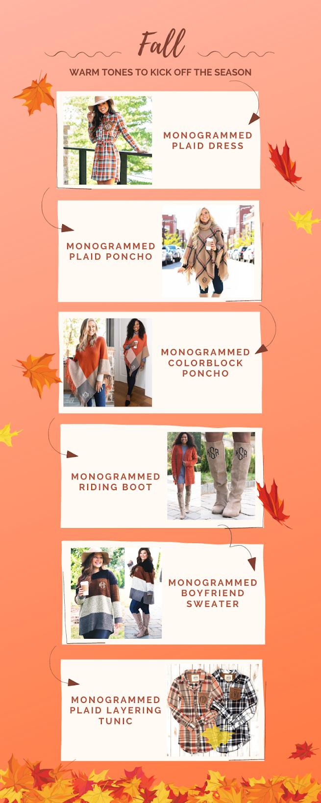 Fall warm tones to kick off the season