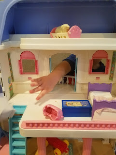 used dollhouse fisher price hand little boy toddler reuse ebay