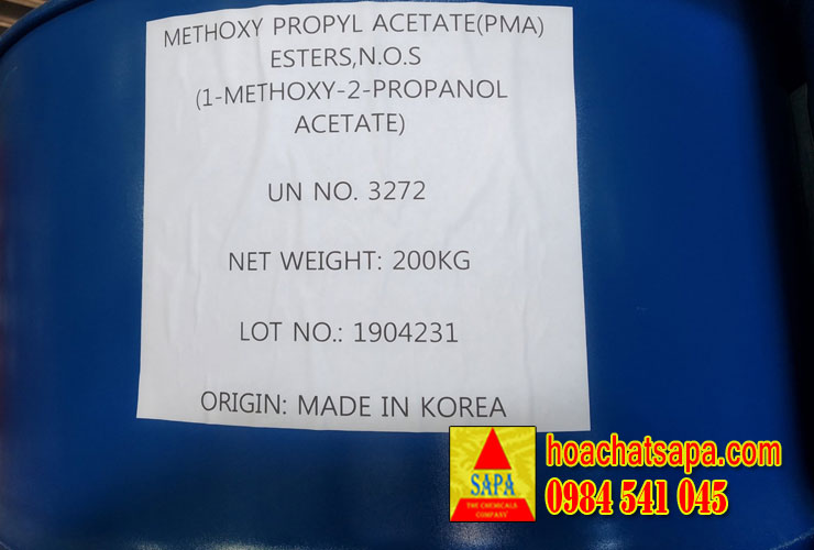 Dung môi Propylene Glycol Monomethyl Ether Acetate (PMA)