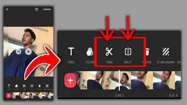 cara memotong video di inshot