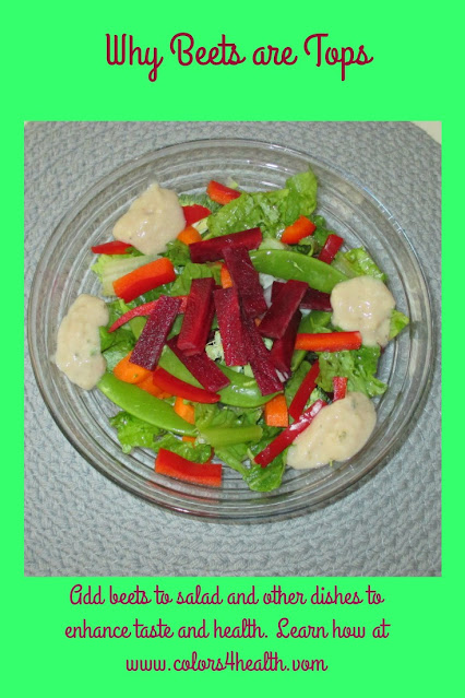 Beets Taste Great and are Healthy in a Salad