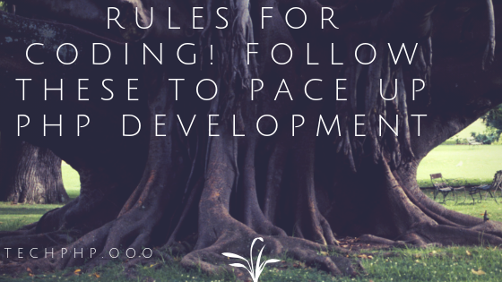 Rules for Coding! Follow These To Pace Up PHP Development