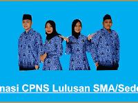 Pendaftaran Online CPNS Khusus Lulusan SMA/SMK 2021