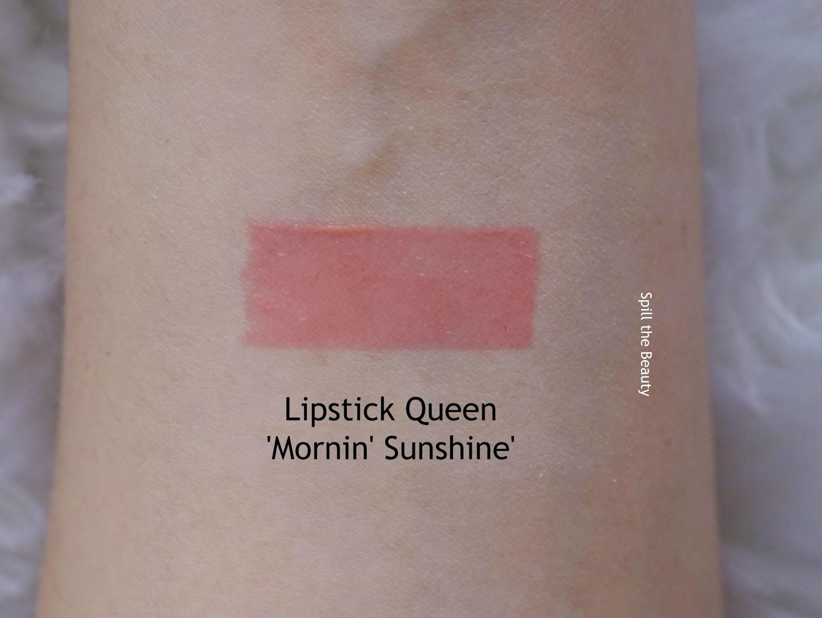 lip swatch lipstick queen mornin' sunshine