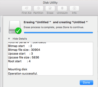 Formatting an External Disk or a Flash Drive for Mac