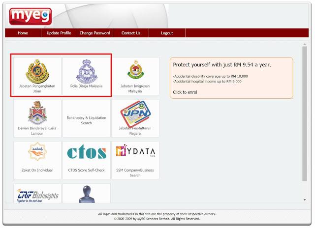 Menggunakan Portal MyEG