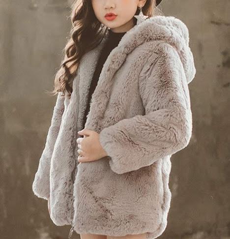 Cute Girls Faux Fur Coats Jackets