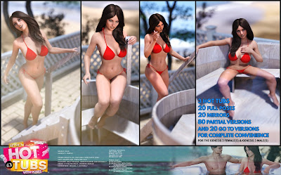 i13 HOT Tubs and Poses for the Genesis 3 Female and Genesis 3 Male