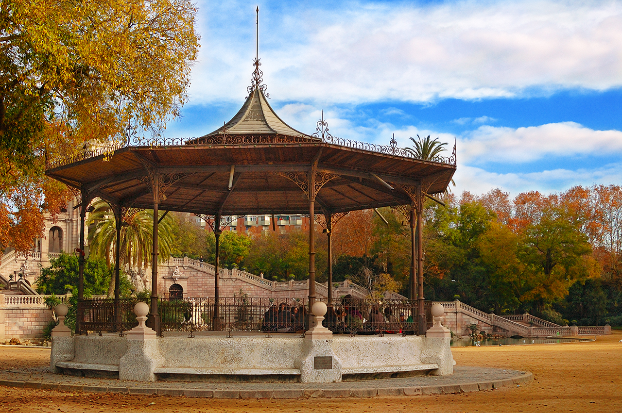 Gazebo or summer house in Parc de la Ciutadella, Barcelona