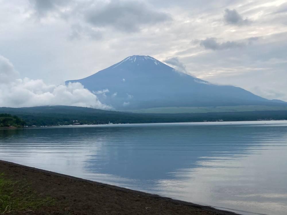 山中湖でオートキャンプ