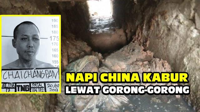 Bukan Kaleng-kaleng! Napi China Ini Kabur dari Lapas Tangerang Setelah 8 Bulan Bikin Gorong-gorong