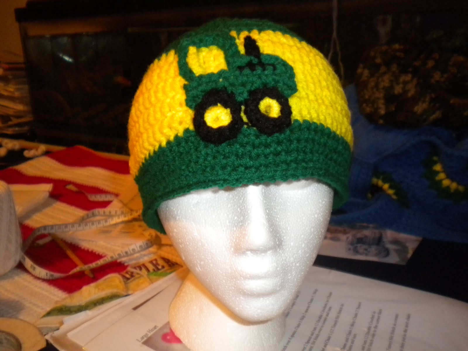 Lets Go Yarning  My Crochet John Deere Beanie 13210f74ed3