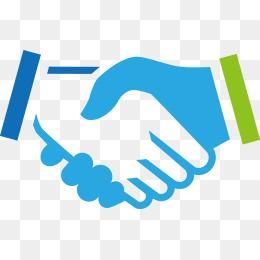 A handshake to you