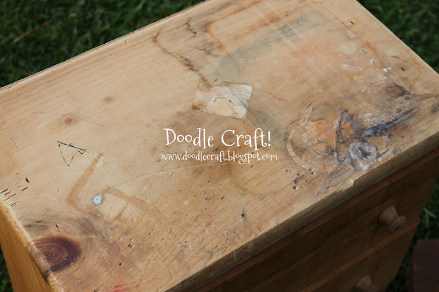 Stenciling and Staining furniture
