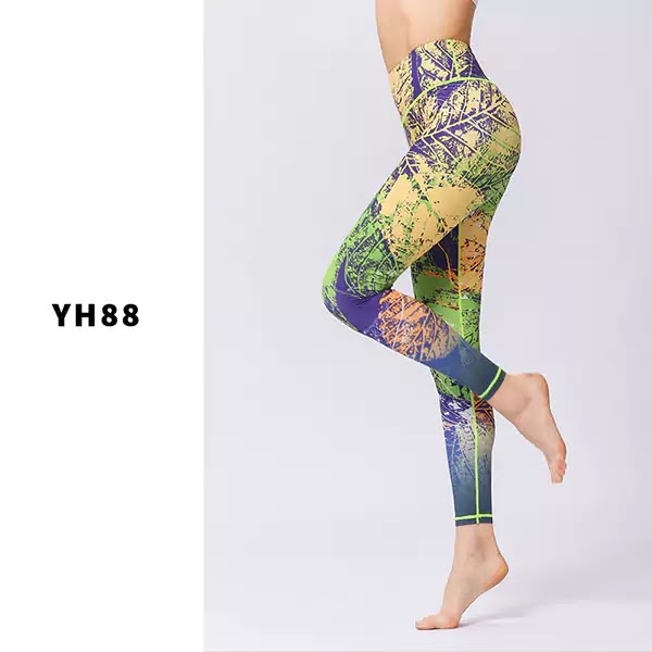 Best Multicolored Hot Yoga Leggings For Women