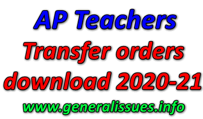 AP Teachers Transfer orders download 2020-21