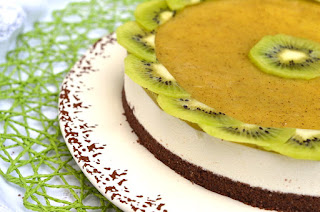 Chocolate and Kiwi Fruit Cheesecake with Thermomix