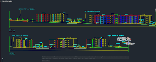 Collective housing common in AutoCAD