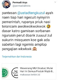Innalillah...Fitnah Keji ke KH Tengku Zulkarnain, Abu Janda Terancam Laknat