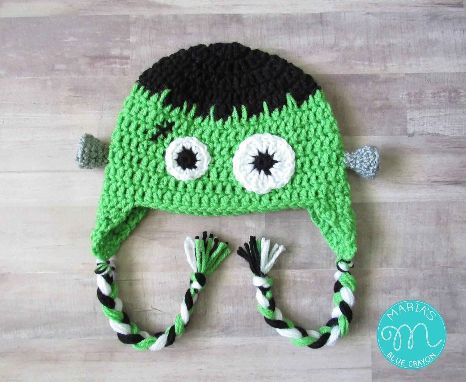 Frankenstein Hat Crochet Pattern - Maria\'s Blue Crayon