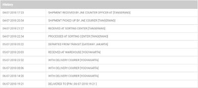 Istilah pengiriman paket secara online