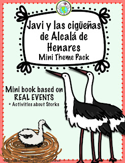 The Storks of Spain Activity Pack in Spanish