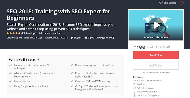SEO 2018: Training with SEO Expert for Beginners