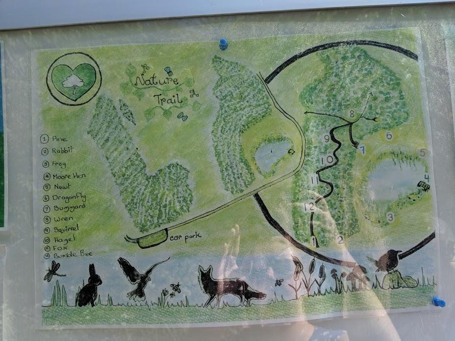East Cramlington Nature Reserve Trail  - nature trail map