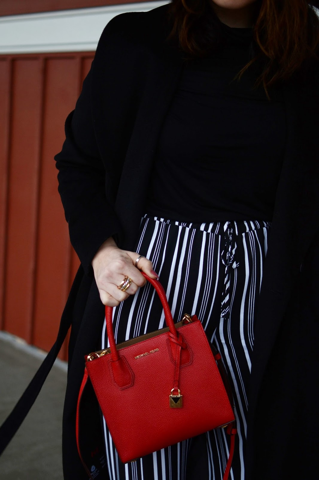 Michael Kors red mini bag vancouver fashion blogger