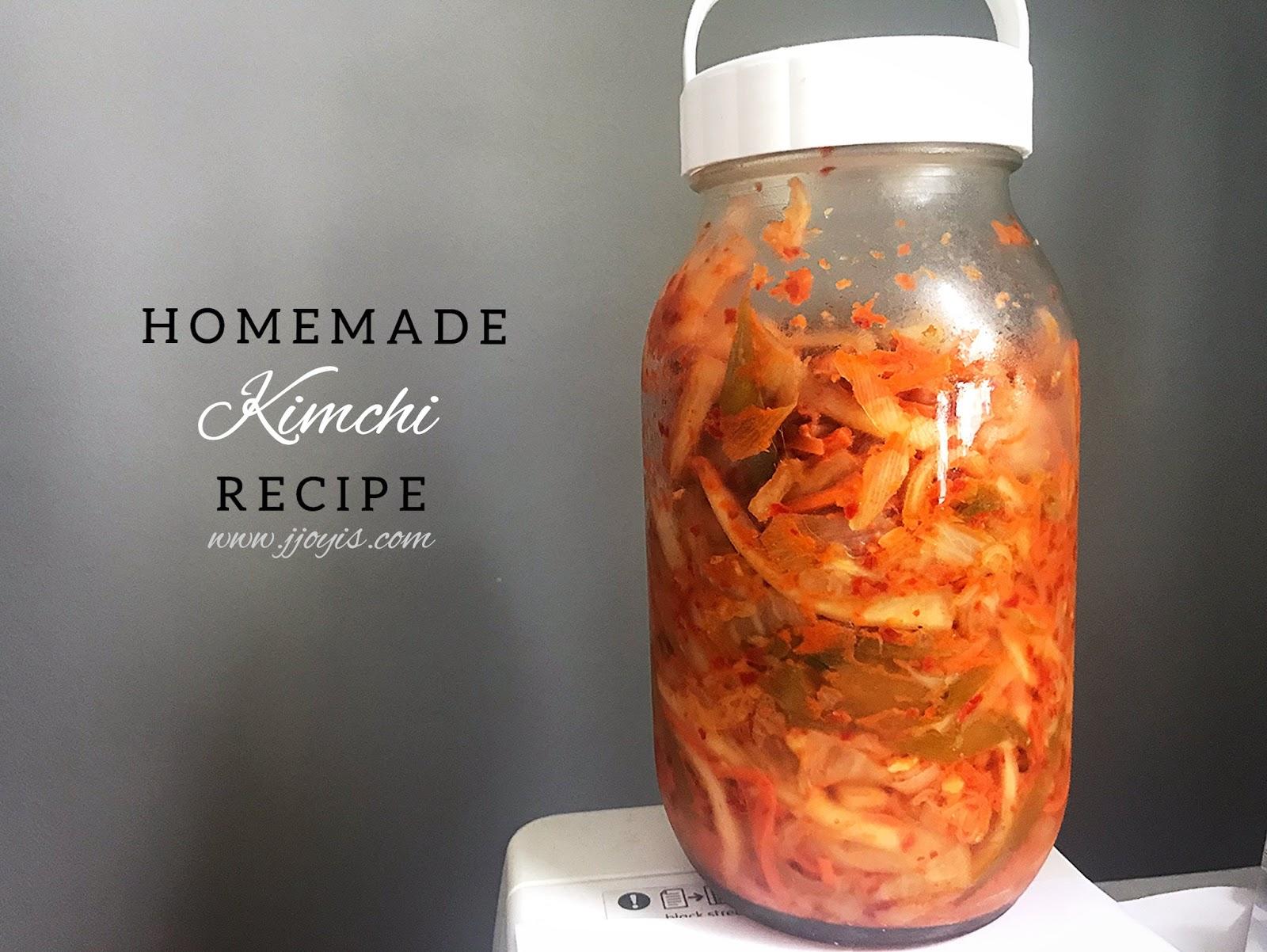 kimchi recipe homemade singapore jjoyis