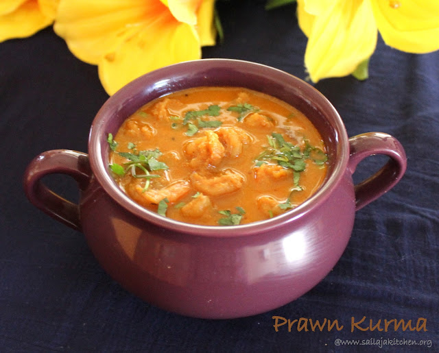 images of Prawn Kurma Recipe / Shrimp Korma / Eral Kurma Recipe